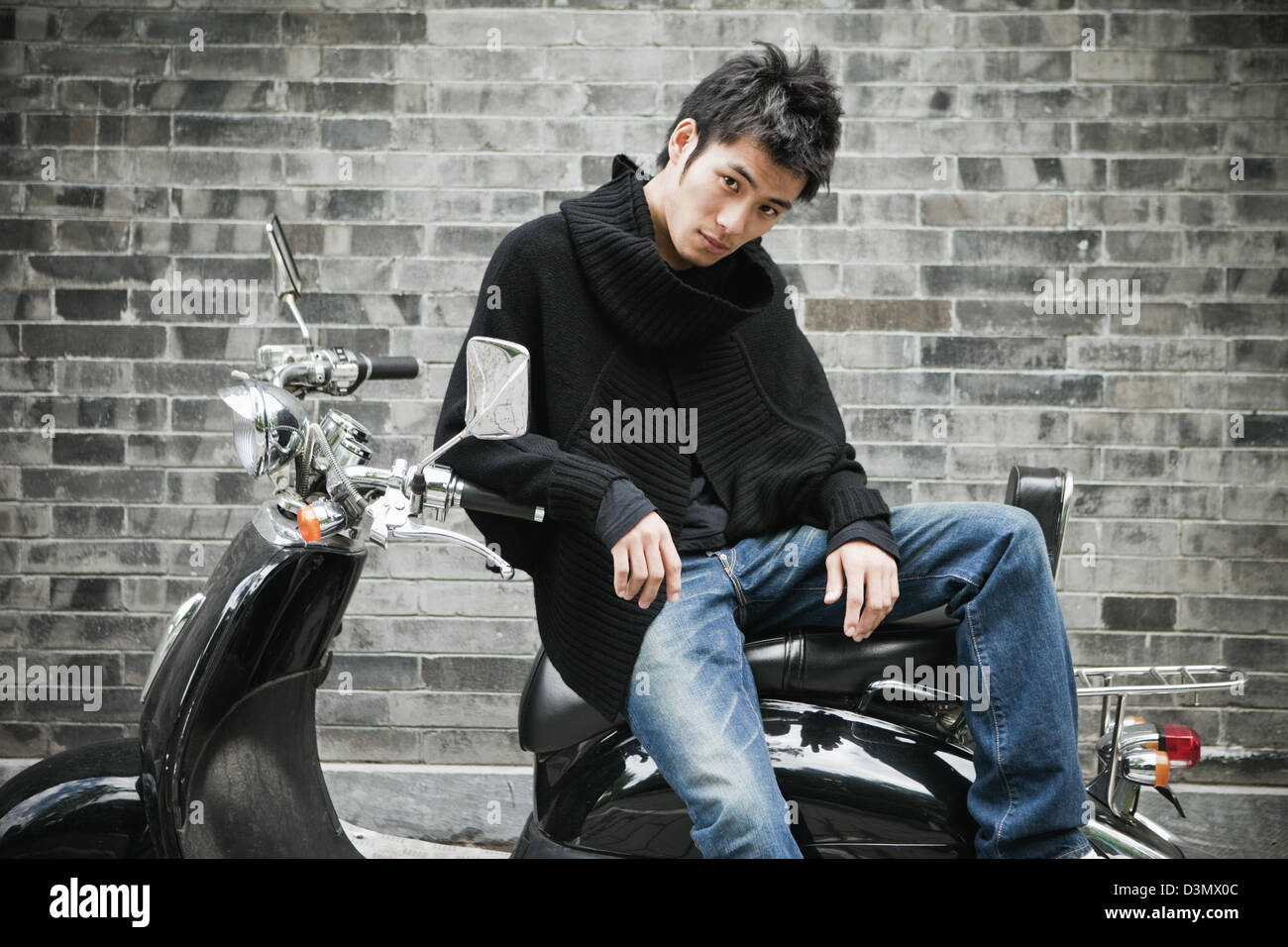 A fashionable young man in China - Stock Image