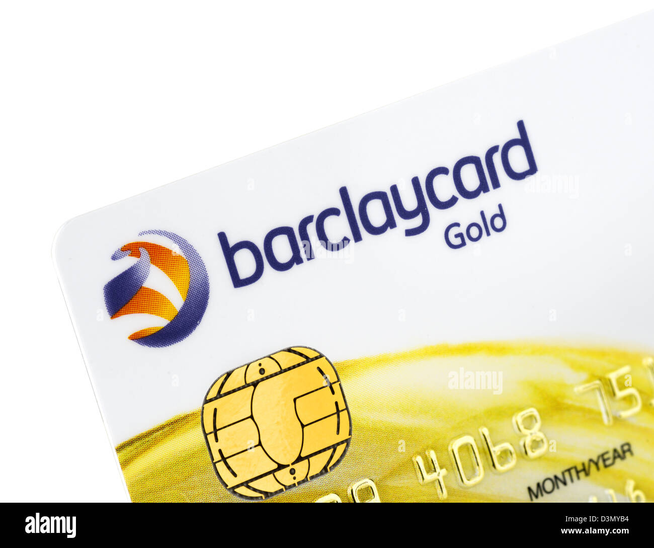 Barclaycard Gold VISA credit card issued in the UK - Stock Image