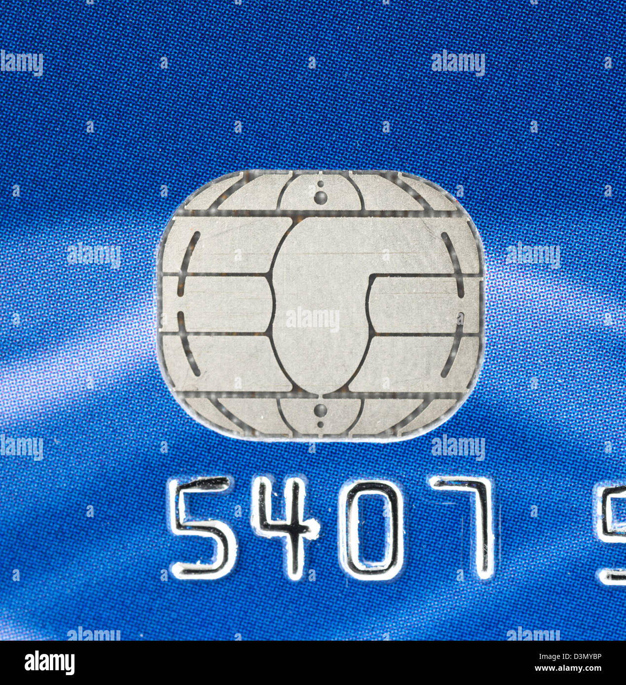Chip on a Chip and Pin credit card - Stock Image