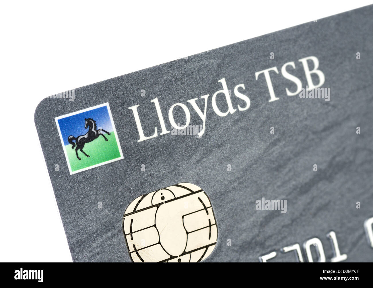 Lloyds TSB Bank credit card issued in the UK Stock Photo: 53935631 ...