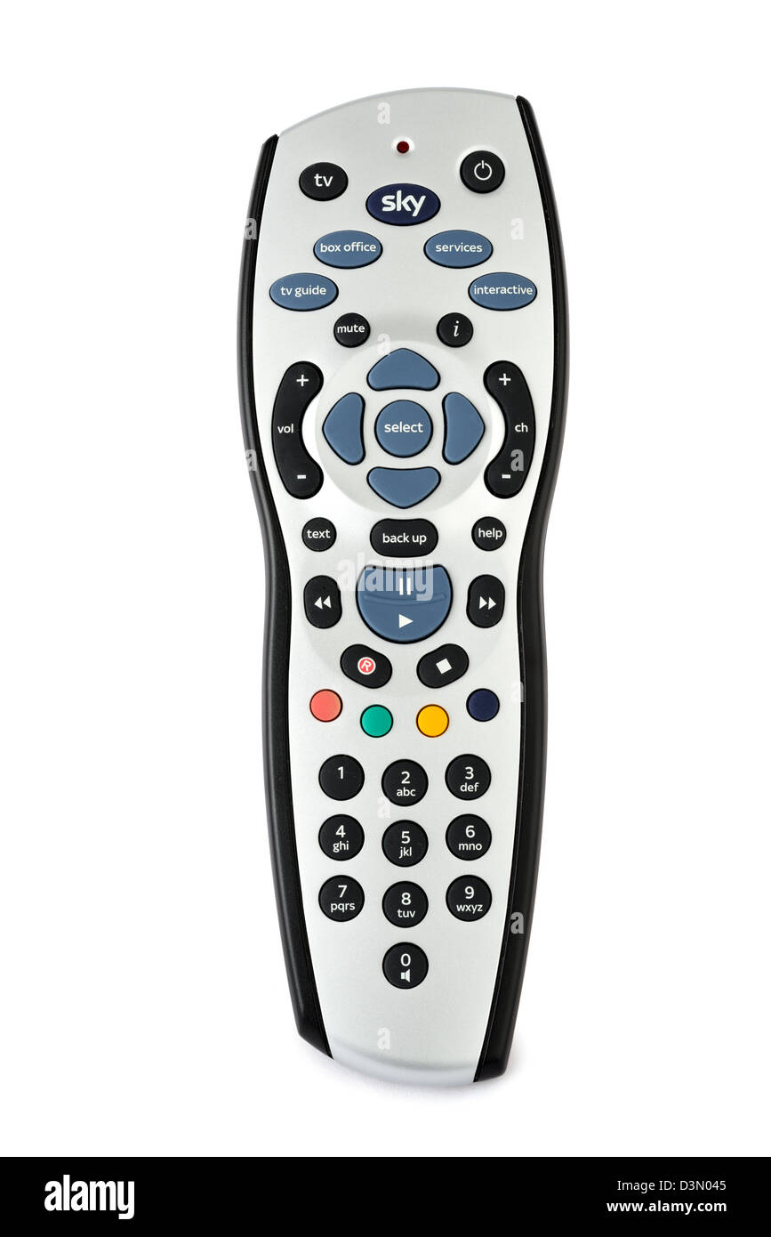 Sky TV Remote Control, UK - Stock Image