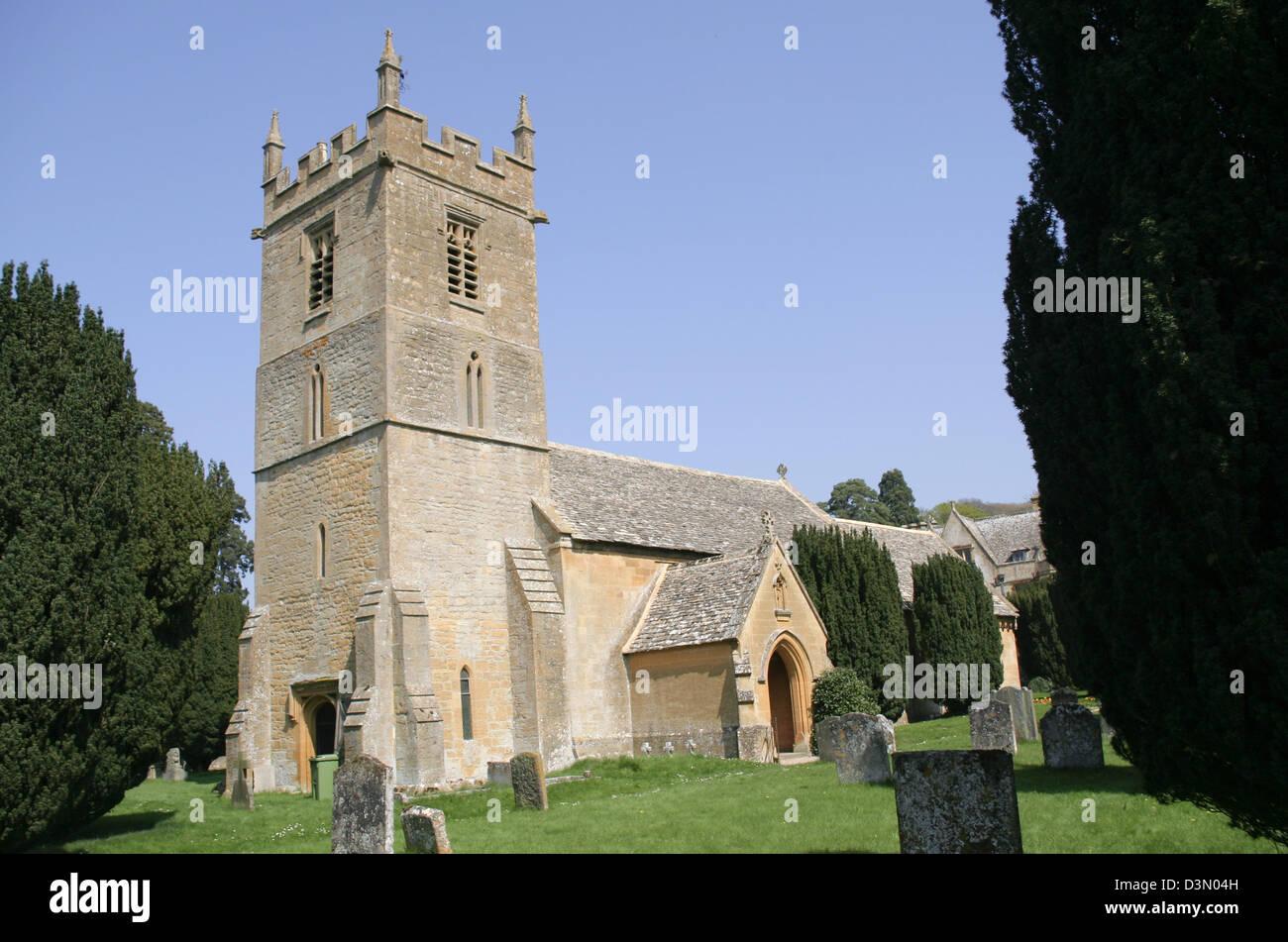 parish church Stanway Gloucestershire England UK Stock Photo