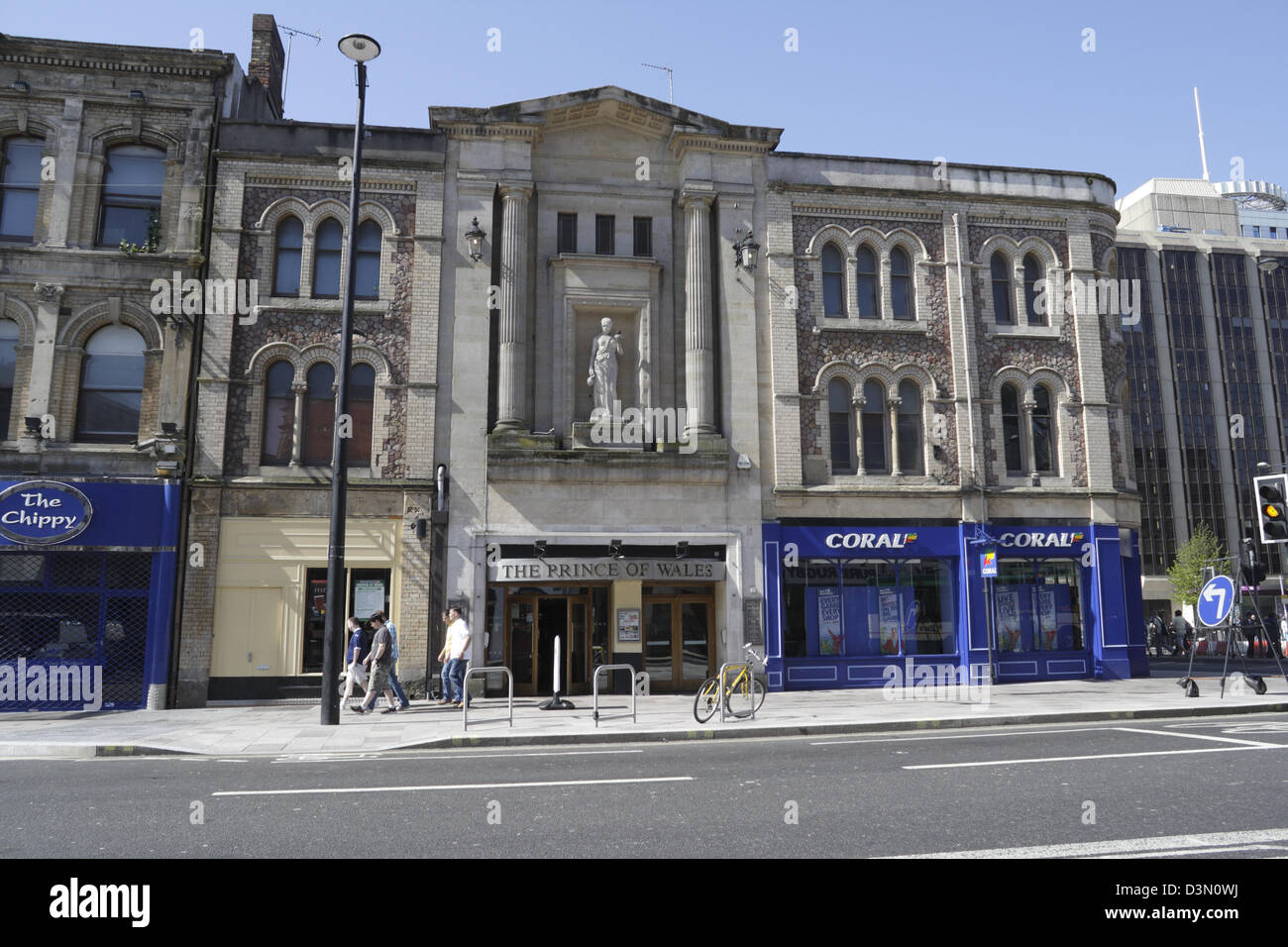 Victorian Gothic Architecture In Cardiff And Modern Shop Fronts With Prince Of Wales Wetherspoons The Middle