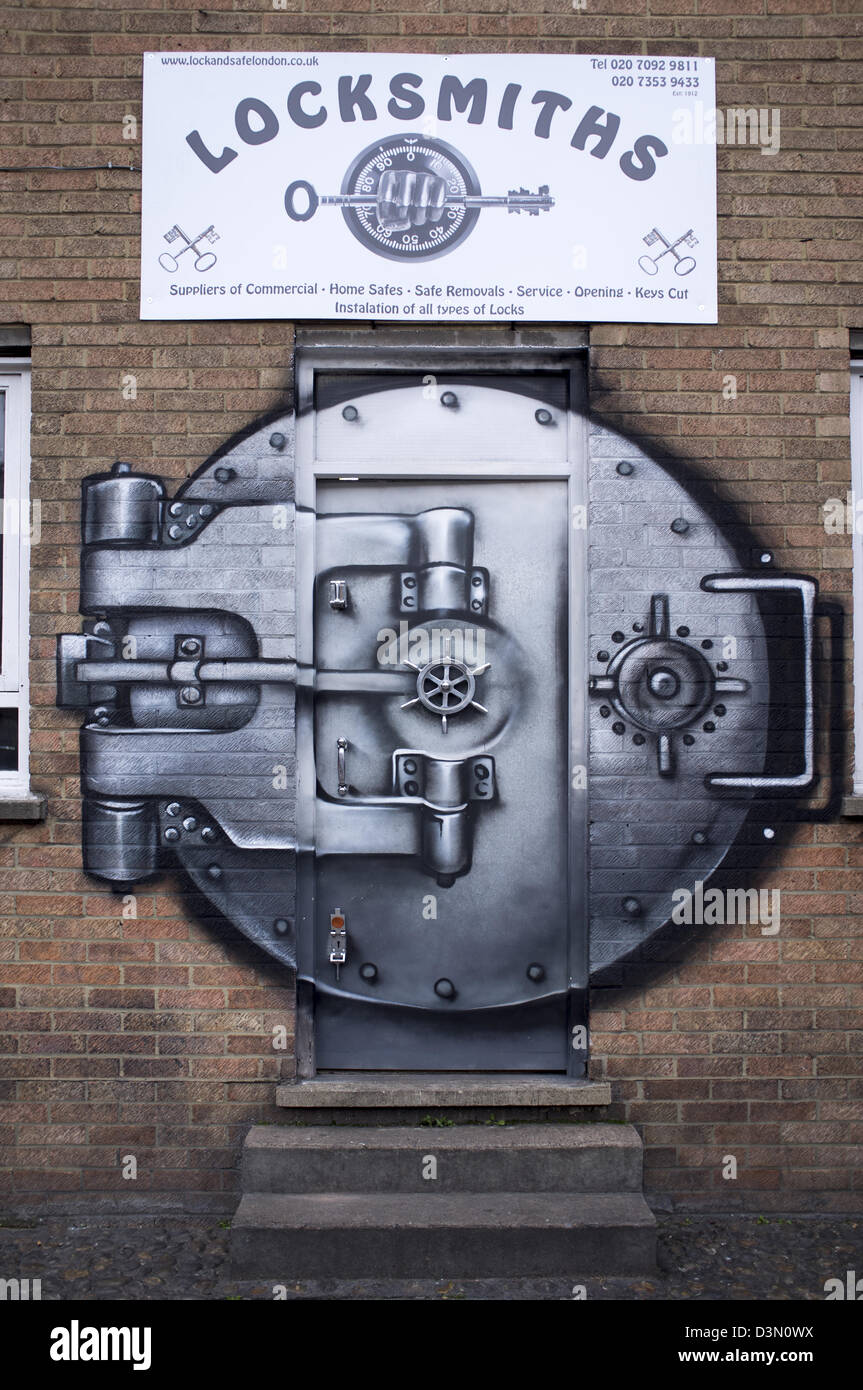 Locksmith Business Design Graffiti - Stock Image