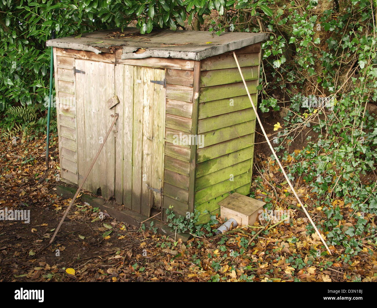 Old garden shed - Stock Image