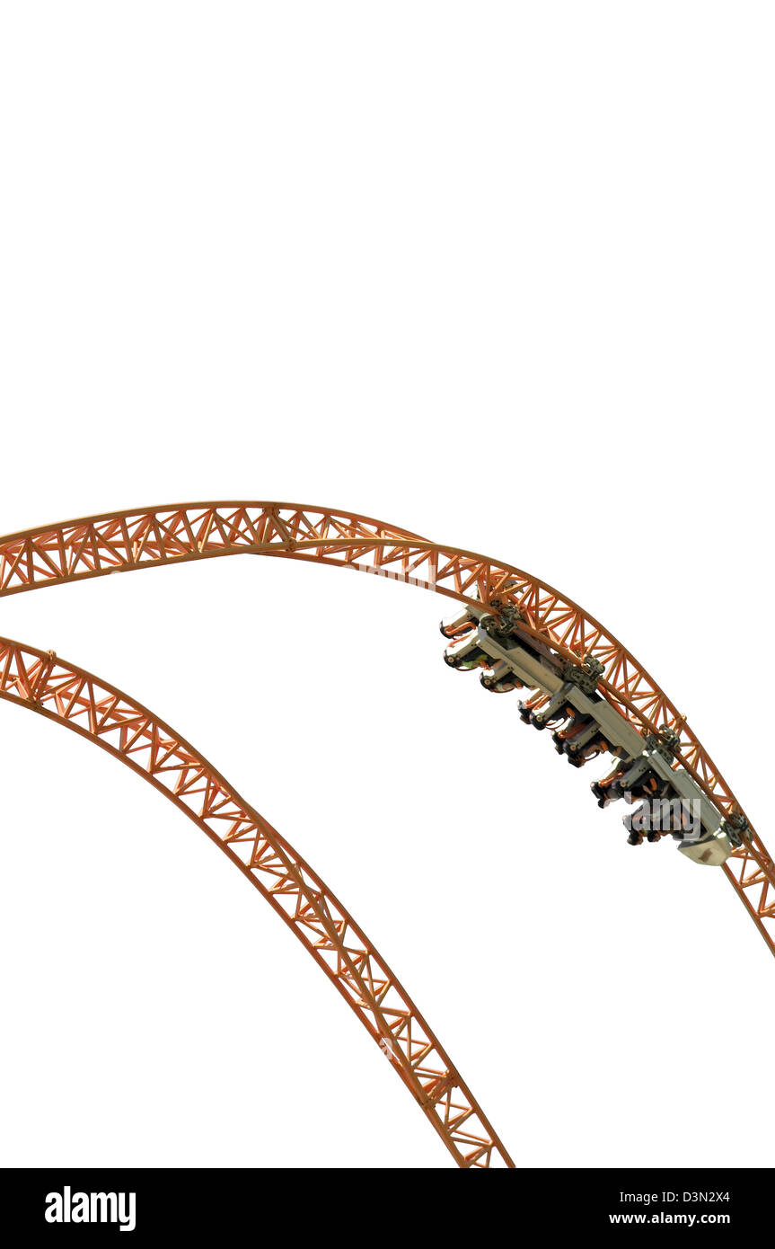 A rollercoaster detail. - Stock Image
