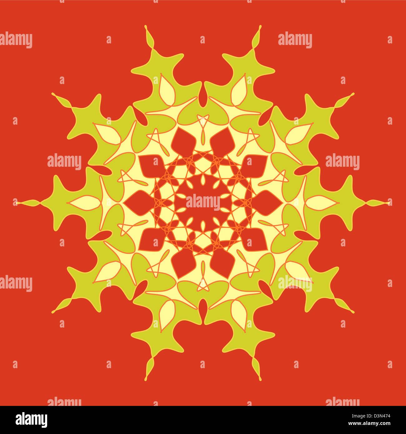 Artistic and colorful ornamental design Stock Photo
