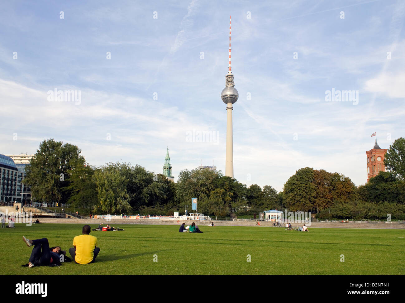 Berlin, Germany, View from Castle Square towards Alexanderplatz - Stock Image