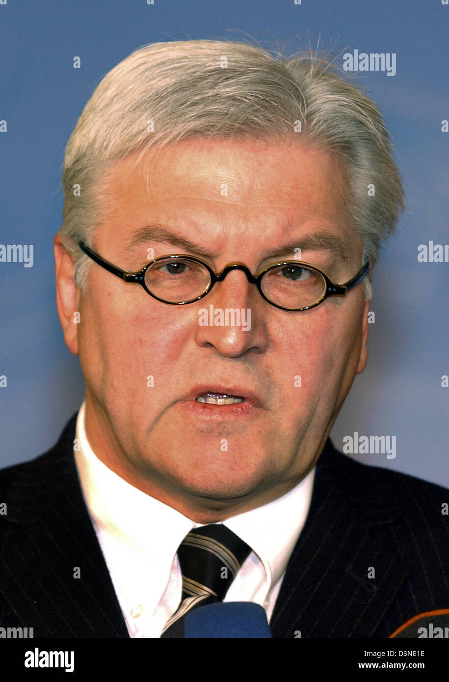 The picture shows Frank-Walter Steinmeier, Germany's Federal Minister for Foreign Affairs of the Social Democrats (SPD) in Berlin, Germany, Monday 30 January 2006. Photo: Stephanie Pilick Stock Photo