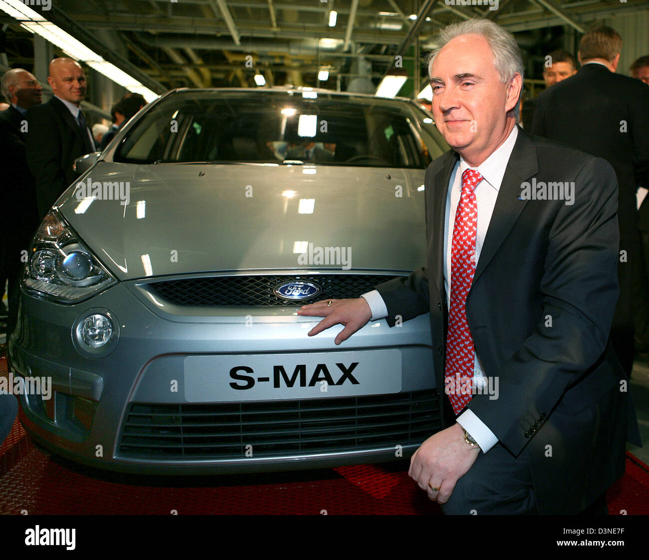 John Fleming, head of Ford's European division, presents the new Ford S-Max in Genk, Belgium, Tuesday 18 April - Stock Image