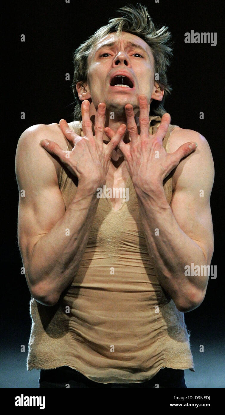 Russian star dancer Vladimir Malakhov acting at a photo rehearsal on the stage of the 'Haus der Kulturen der - Stock Image