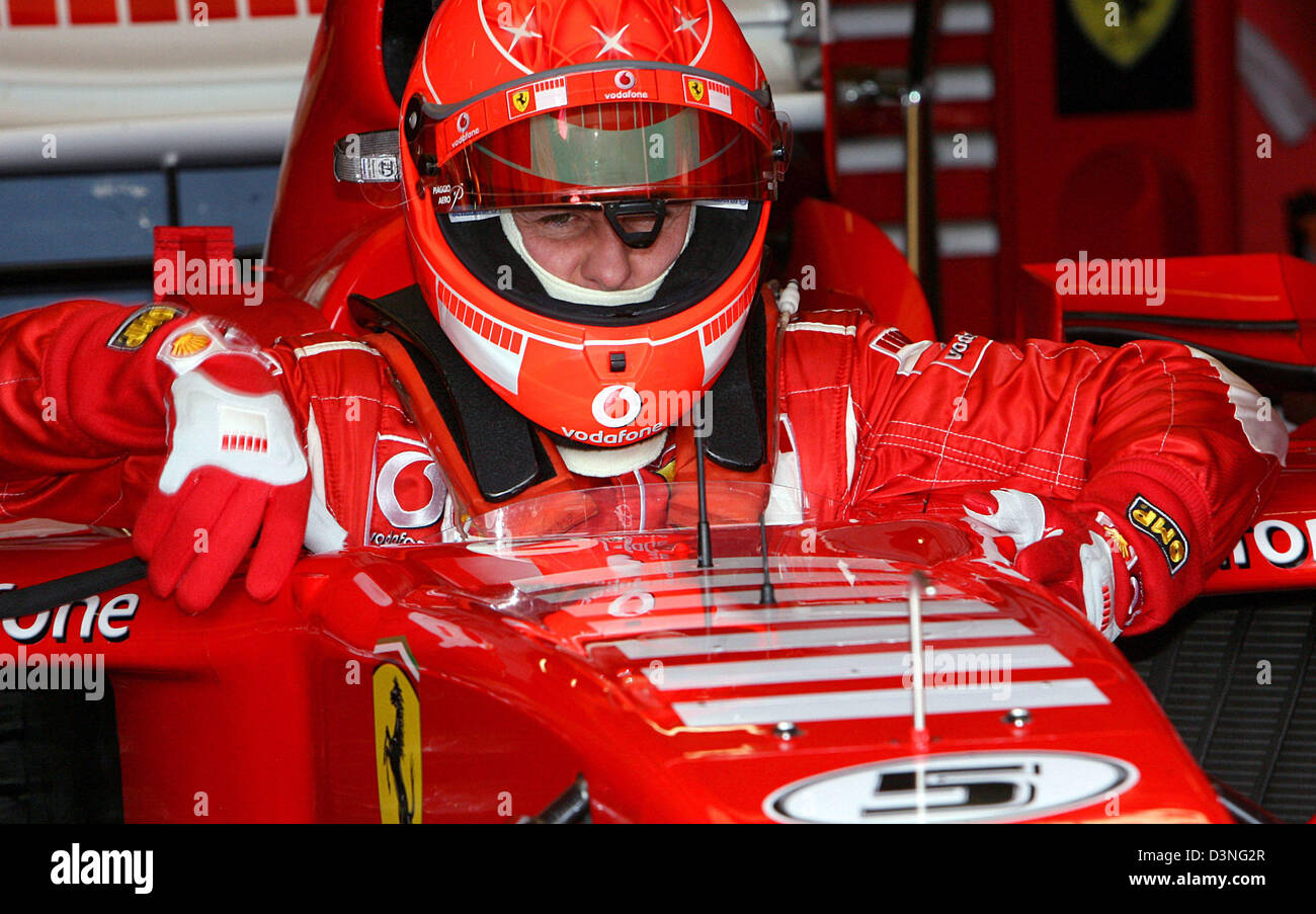 German Formula One Pilot Michael Schumacher Of Scuderia Ferrari F1 Stock Photo Alamy