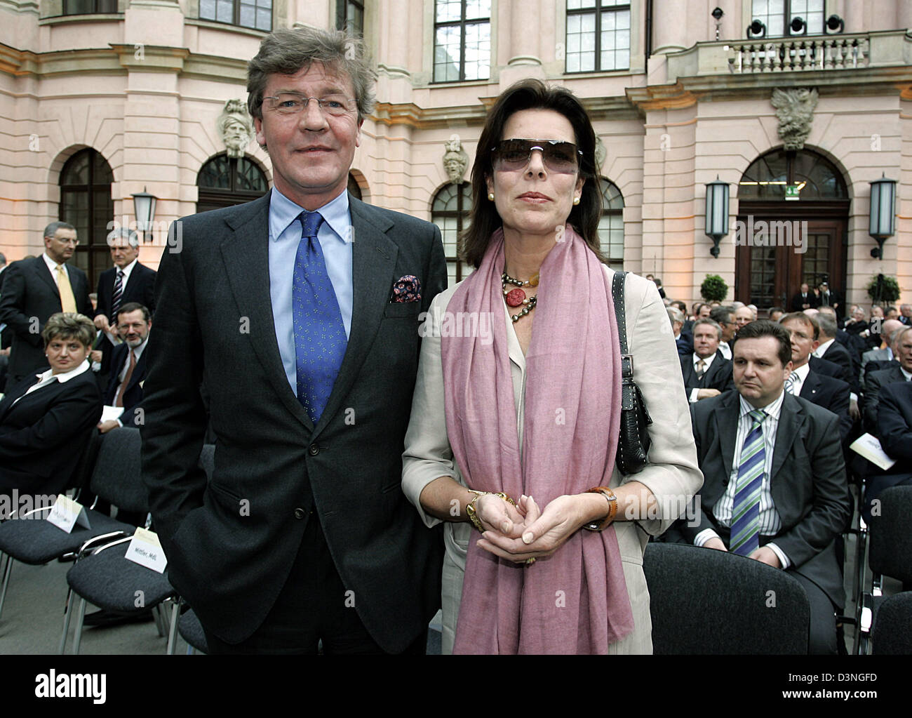 Ernst August Prince of Hanover and his wife Caroline Princess of Monaco stand next to each other at the German Historical - Stock Image