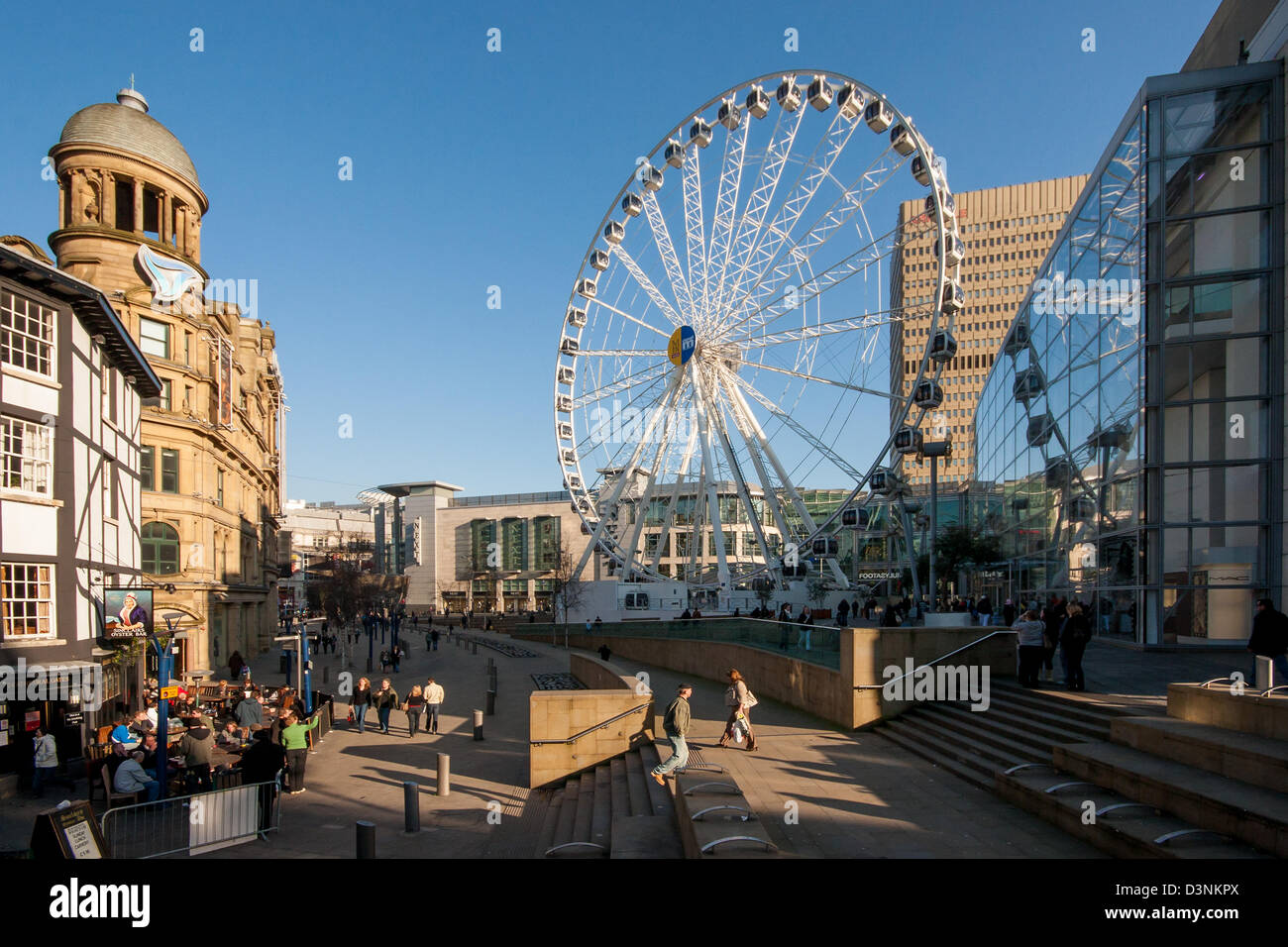 Exchange square in Manchester - Stock Image