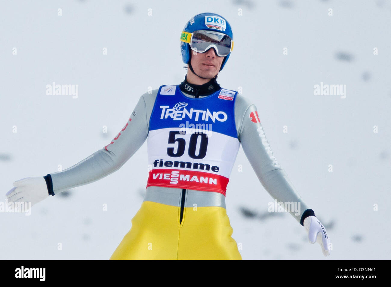 a8c30bb28ac76b Tino Edelmann of Germany reacts after his jump in the Individual Normal  Hill Ski Jumping portion of the Nordic Combined competition at the Nordic  Skiing ...