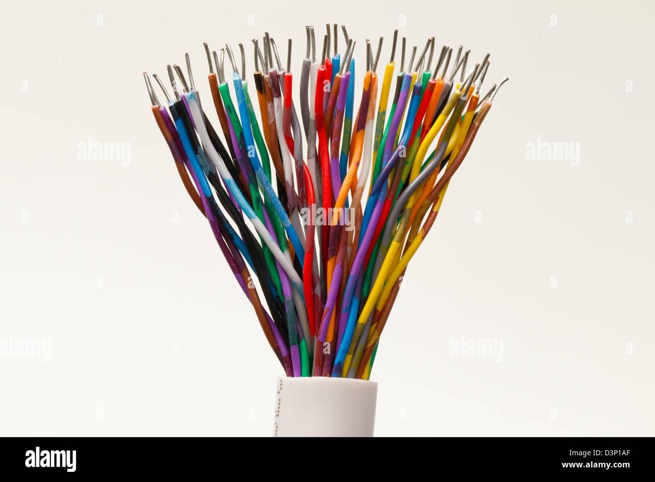 Cables Multi Coloured Diversity Rainbow Mixed Colours Stock Photo Wiring Cable