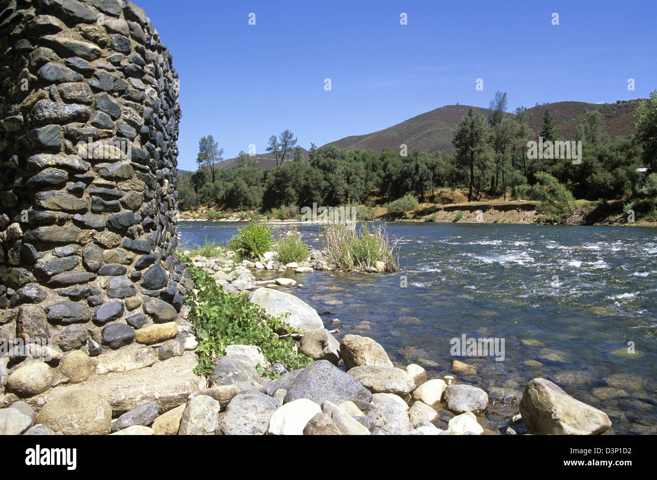 Sutter's Mill site, California Gold Rush, Marshall Gold Discovery State Historic Park, Coloma, California, USA. - Stock Image
