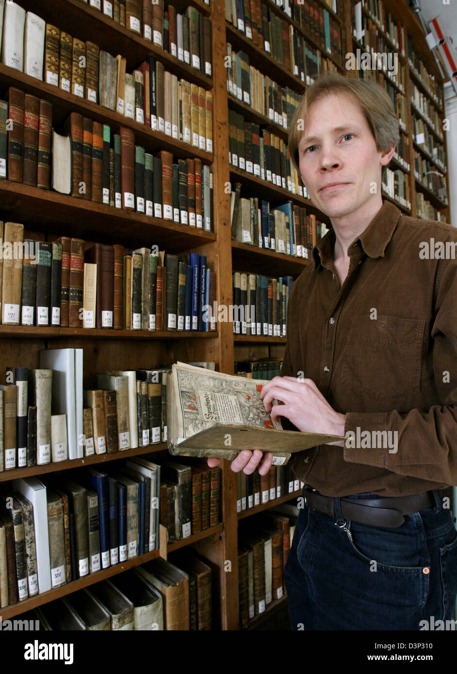 American Daniel Gehrt is pictured in Schloss Friedenstein in Gotha, Germany, Thursday, 06 April 2006. For 15 years, - Stock Image