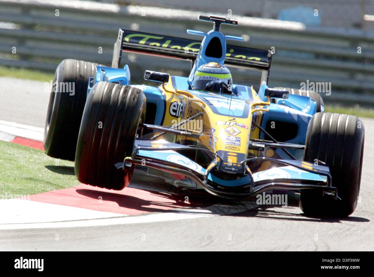 Italian Formula One Driver Giancarlo Fisichella Of Renault