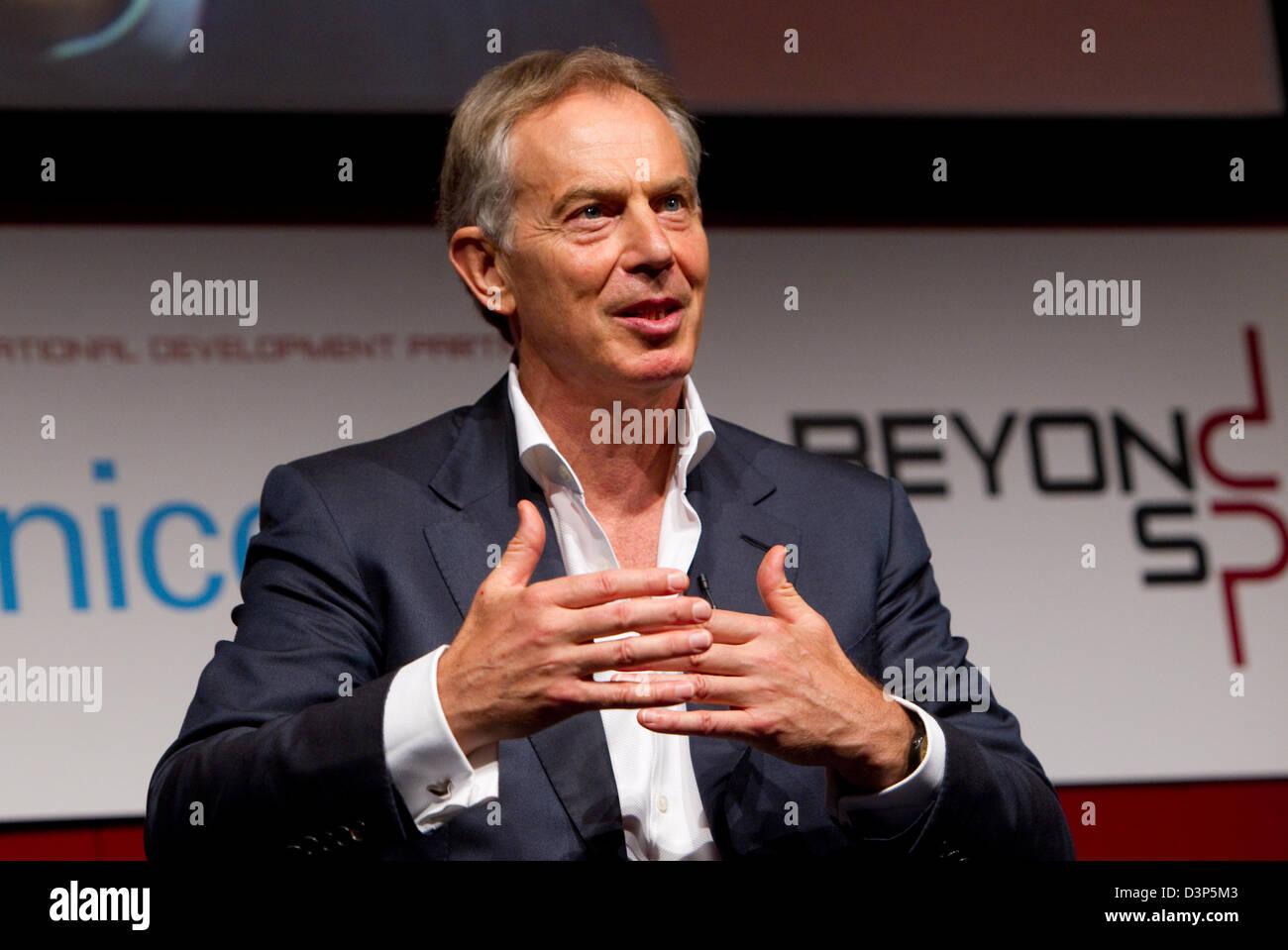 Tony Blair Former Prime Minister - Stock Image