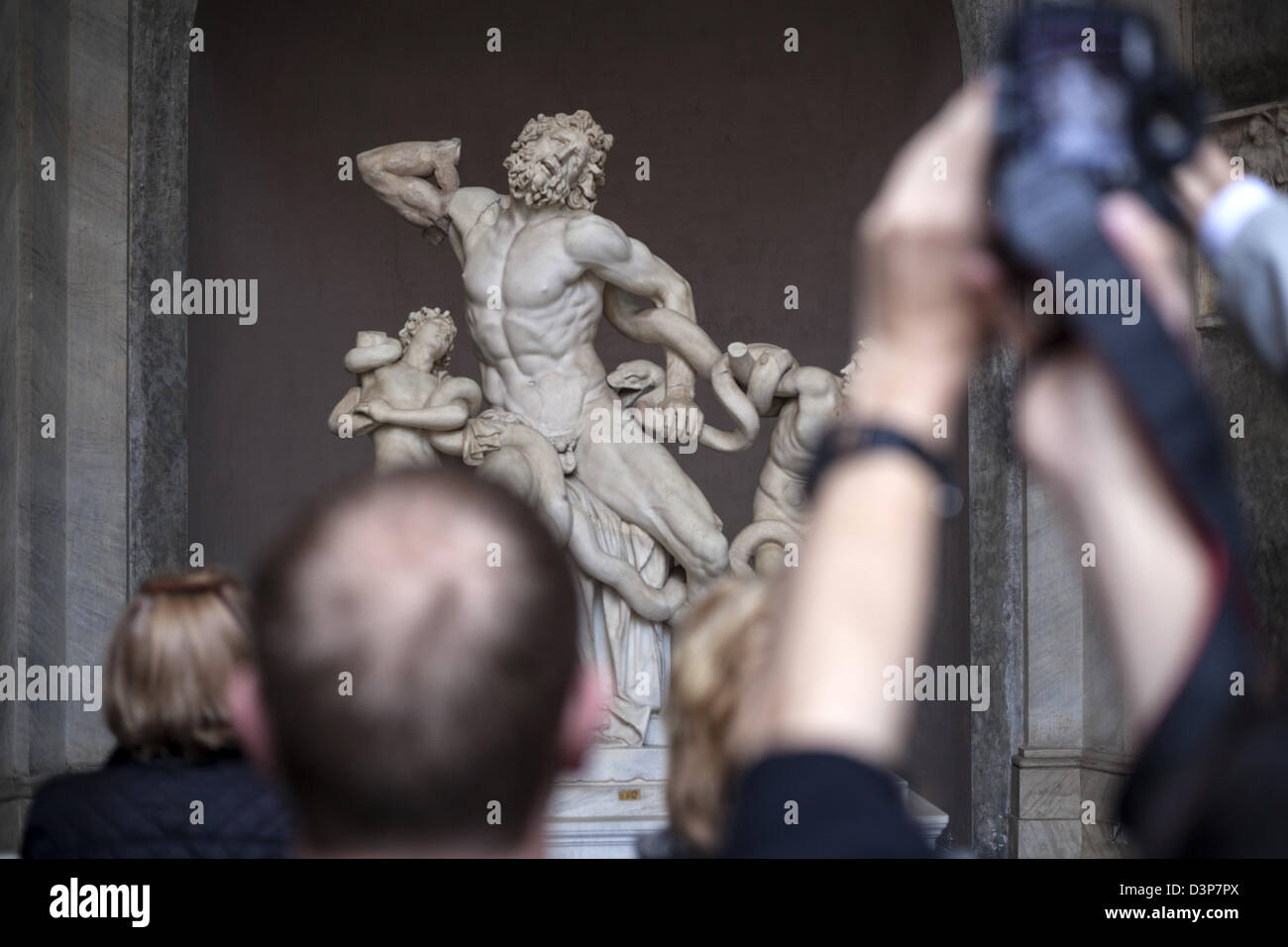 Laocoon and his sons a first century BC marble sculpture on display in the Vatican Museum, Vatican City, Rome, Italy Stock Photo