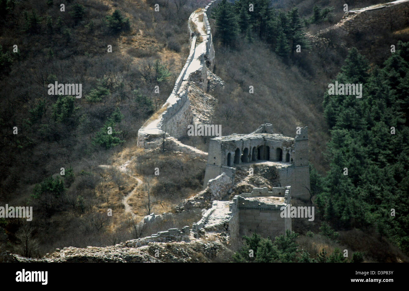 (dpa file) The picture shows a not yet renovated part of the Great Wall near the capital Beijing, China, Tuesday - Stock Image