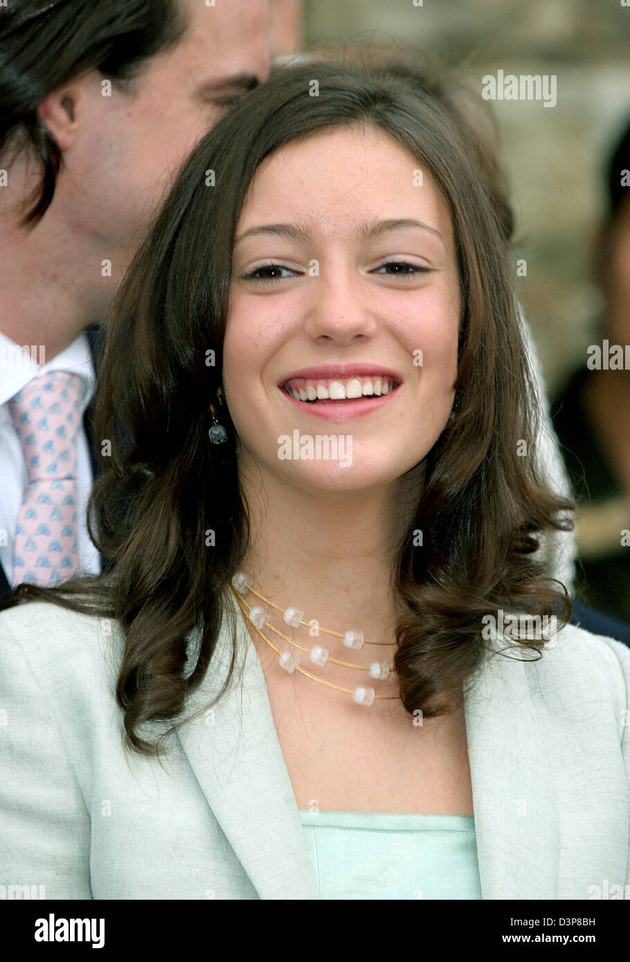 princess alexandra of luxembourg arrives to the church wedding of stock photo 53964613 alamy. Black Bedroom Furniture Sets. Home Design Ideas
