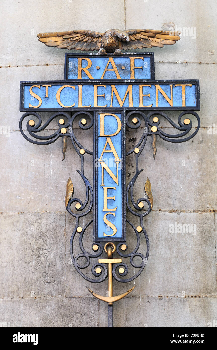 London, England, UK. RAF Church of St Clement Danes in the Strand - Stock Image