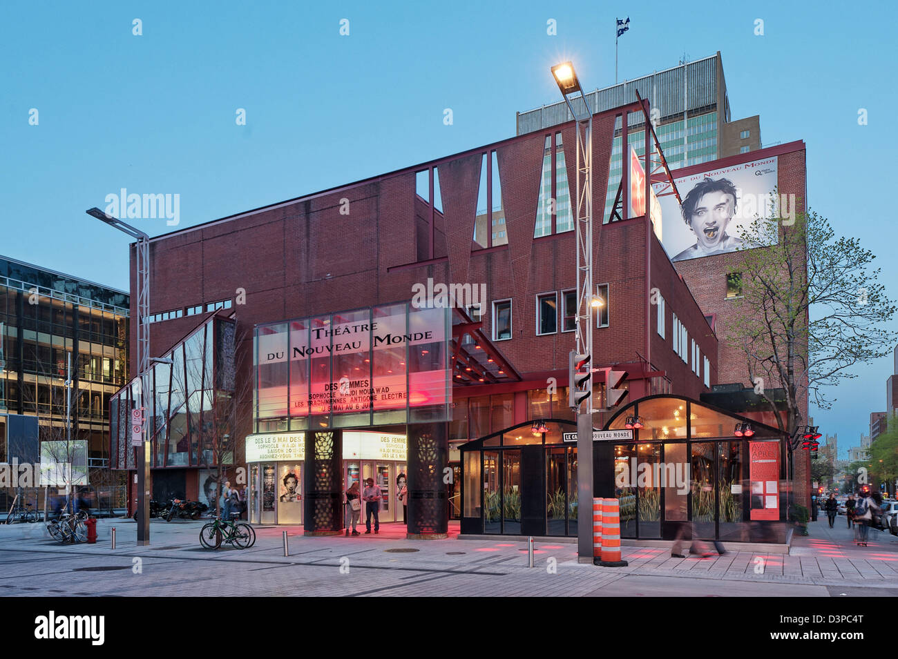 Theatre du Nouveau Monde, Quartier des Spectacles, Place des Arts, downtown montreal, quebec, Canada - Stock Image