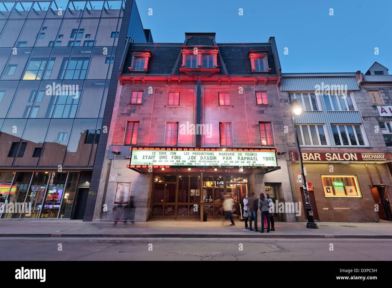 Club Soda, Quartier des Spectacles, Place des Arts, downtown montreal, quebec, Canada - Stock Image