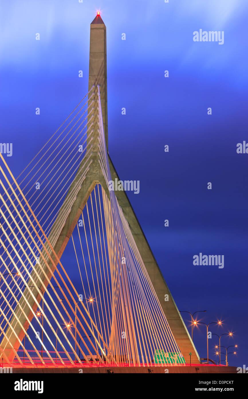Leonard P. Zakim Bunker Hill Memorial Bridge Stock Photo