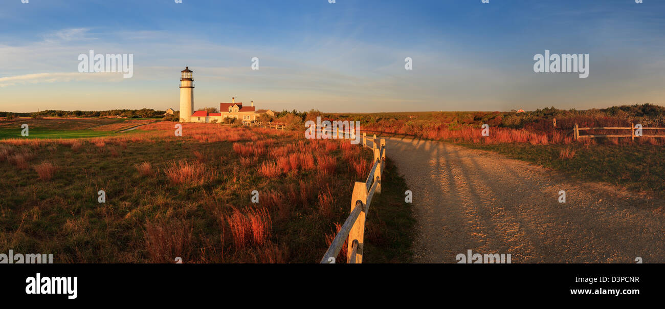 Cape Cod's oldest lighthouse, locally known as the Highland Light, is officially named 'Cape Cod Light'. - Stock Image