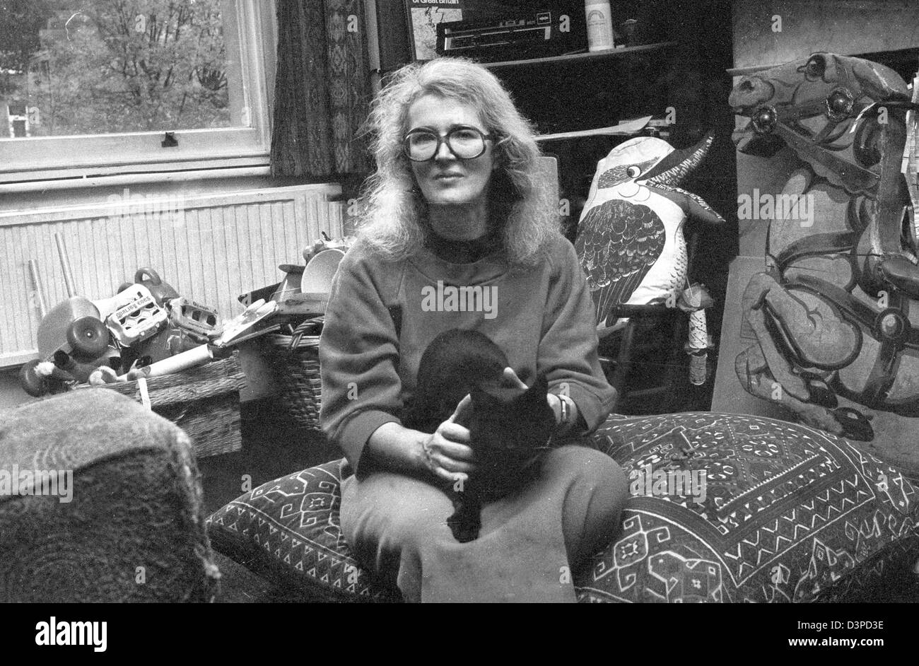 Angela Carter was an English novelist and journalist, known for her feminist, magical realism, and picaresque works. - Stock Image