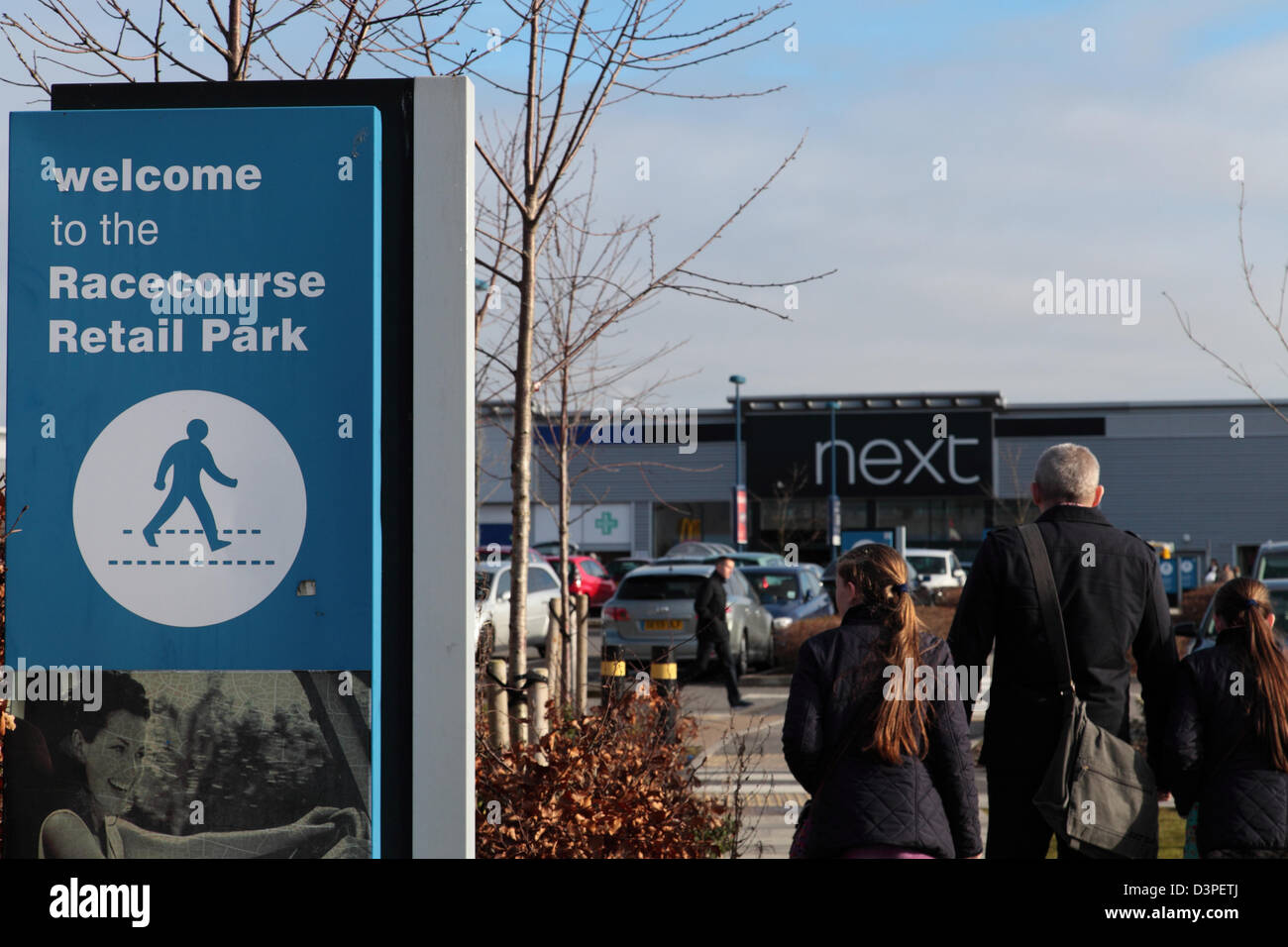 Racecourse Retail Park, Aintree, Liverpool Stock Photo