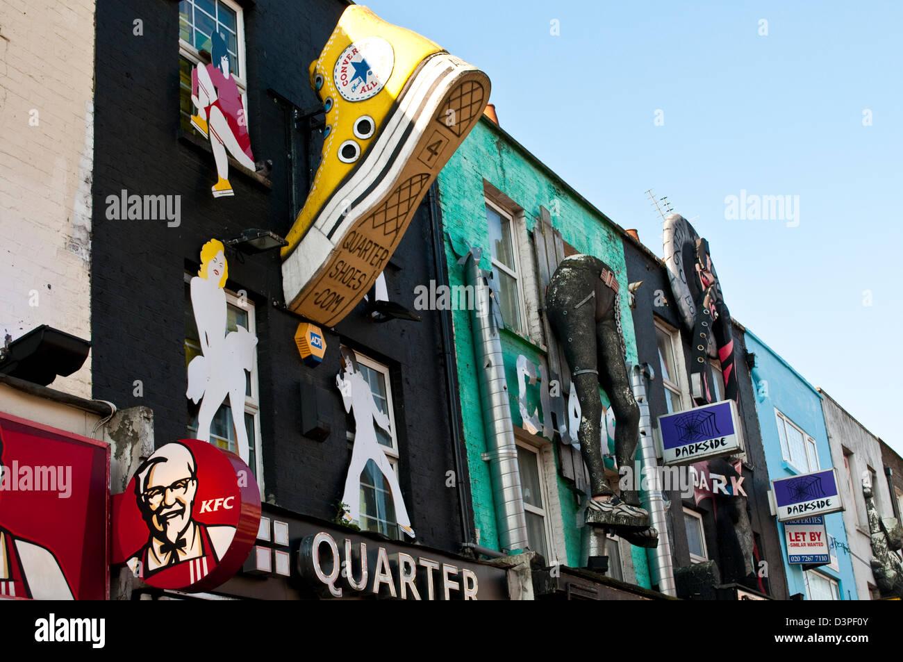 Converse trainer, Camden High Street, Camden Town, NW1, London, UK - Stock Image