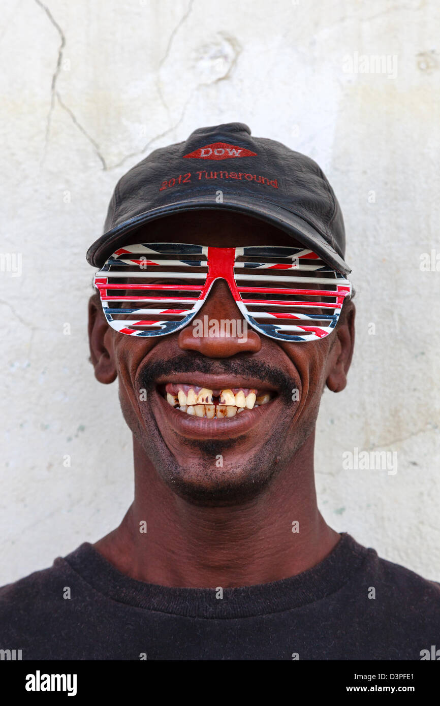 Portrait of a local man, Micoud, St Lucia Stock Photo