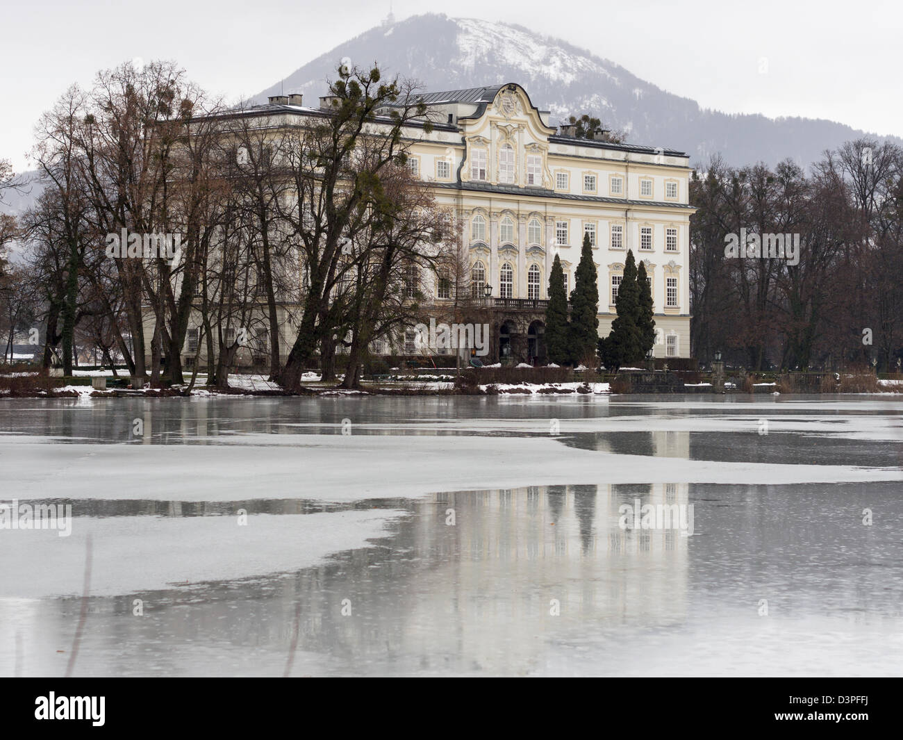 Von Trapp Mansion: Schloss Leopoldskron. The house used for the Von Trapp family in the Sound of Music movie. - Stock Image