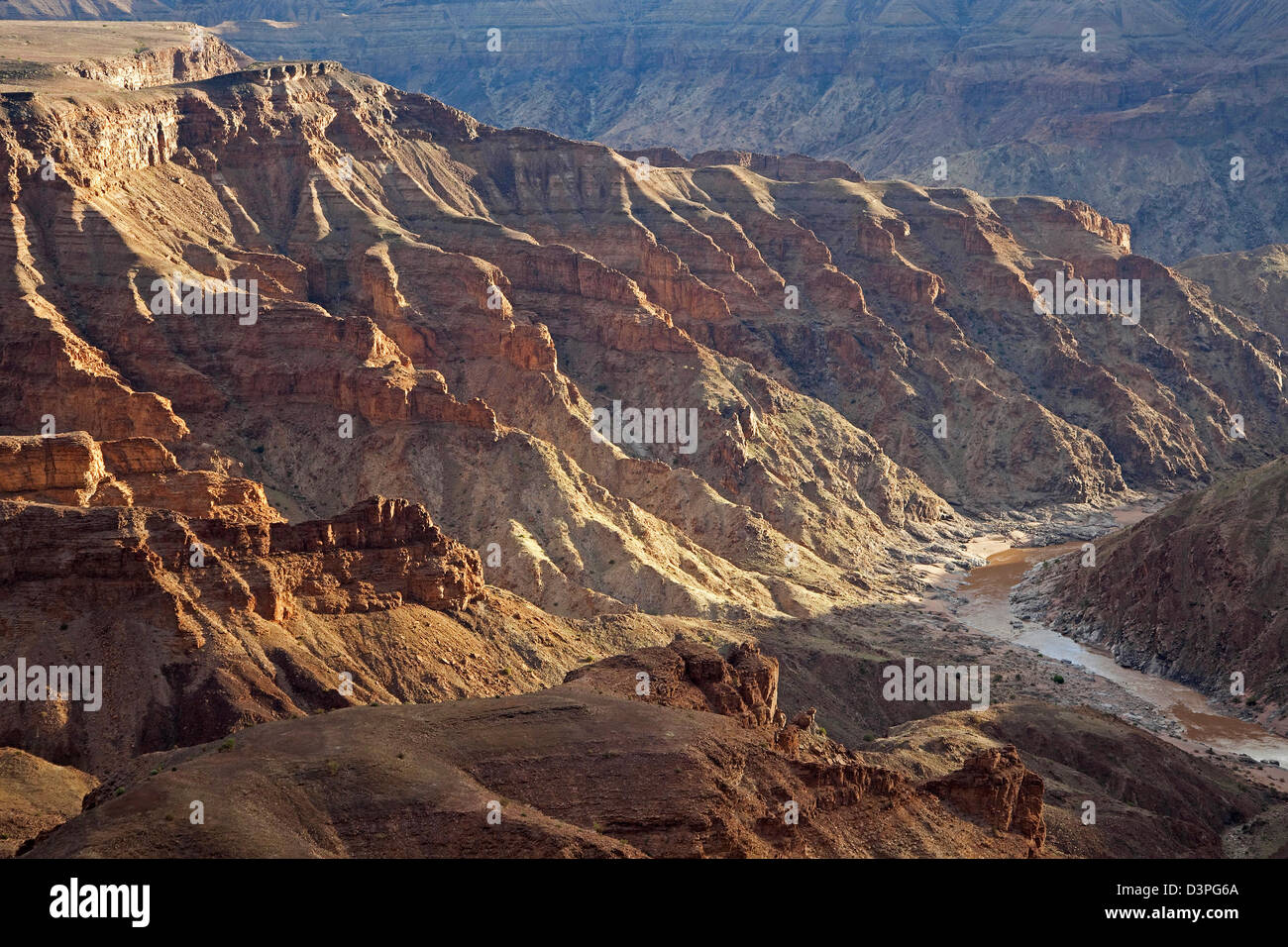 Fish River Canyon, second largest canyon in the world, Namibia, South Africa - Stock Image