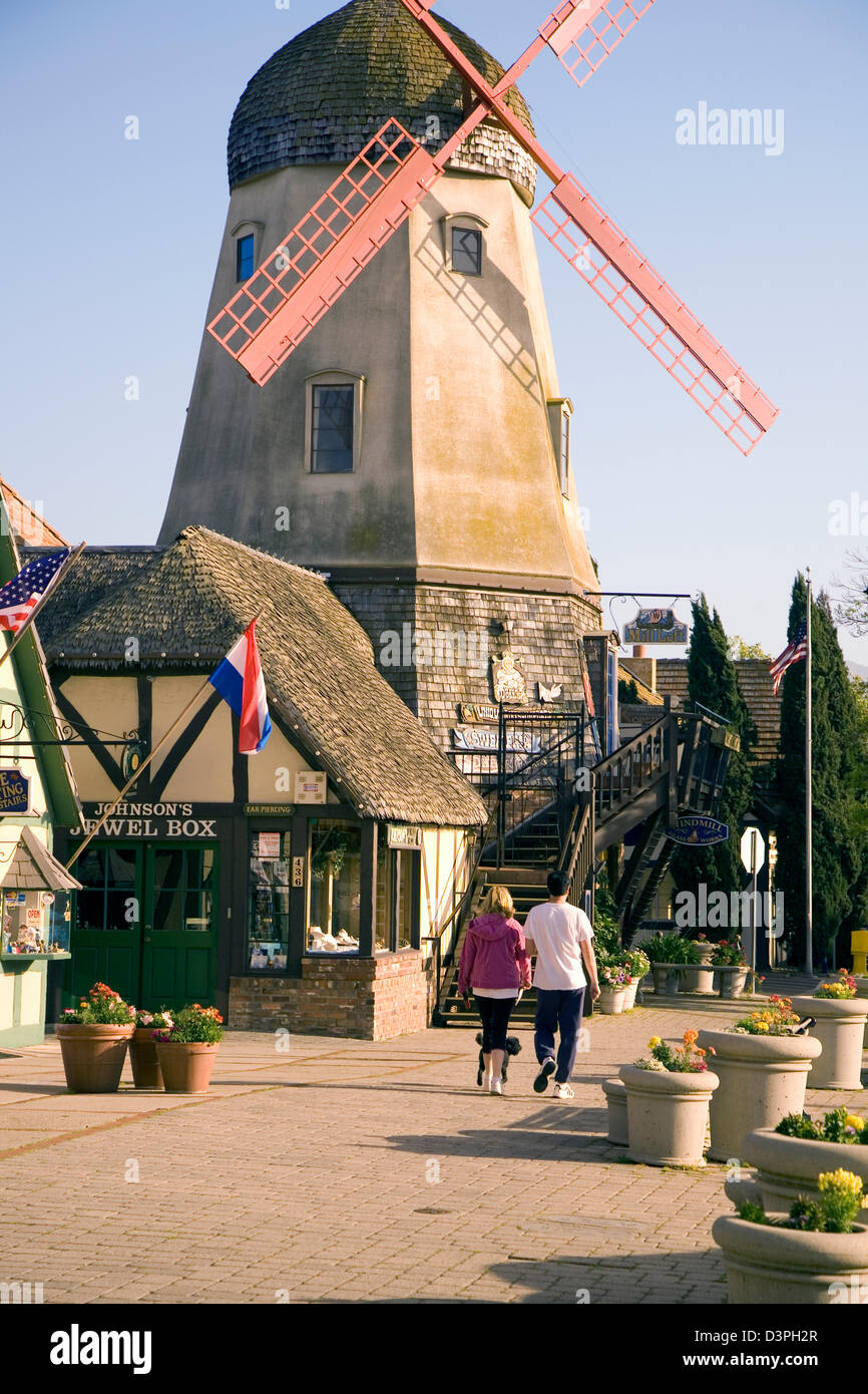 Scenic Solvang is one of the most picturesque and appealing visitor destinations in the Santa Ynez Valley of north Stock Photo