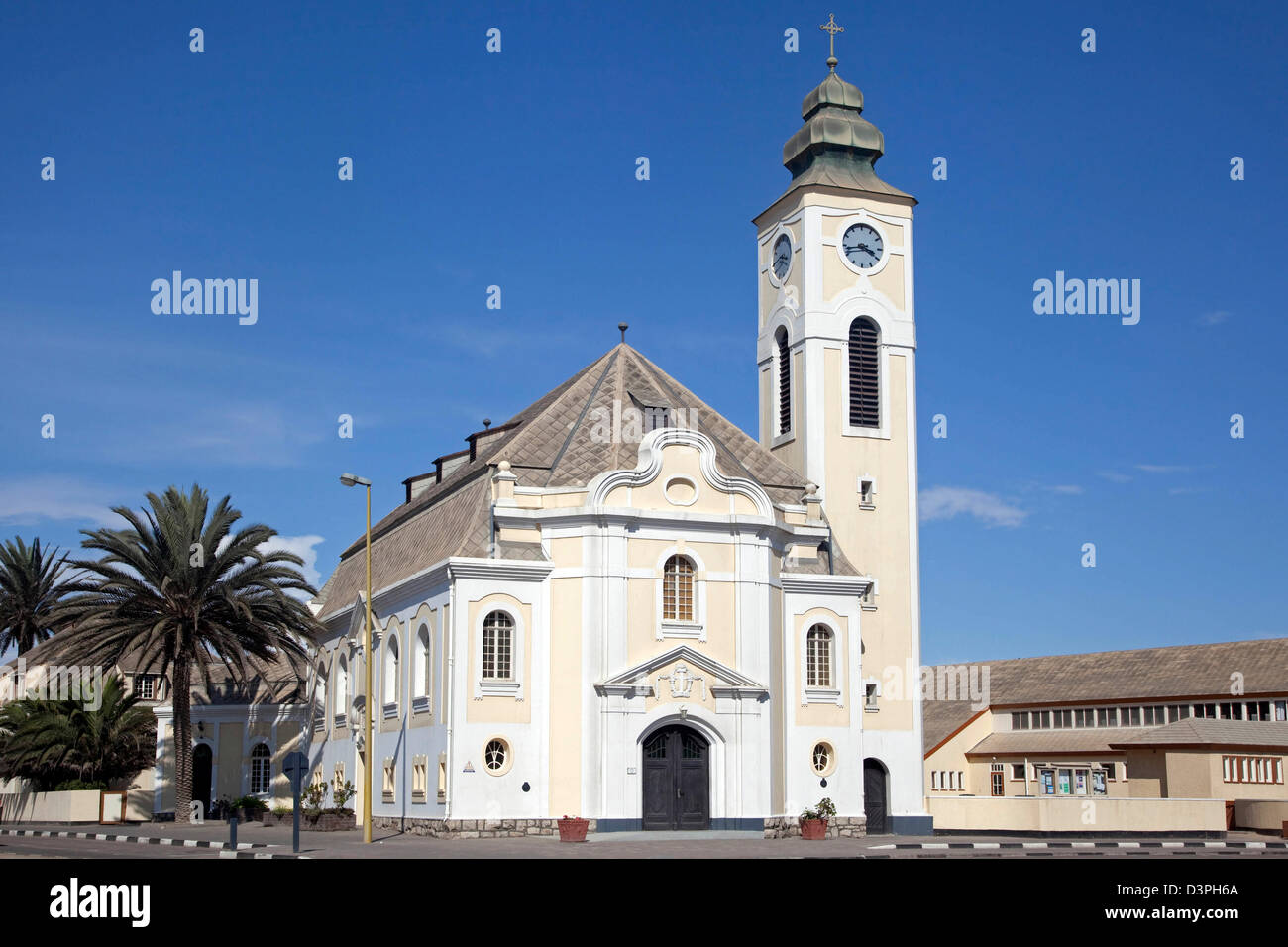 Lutheran Church in Swakopmund, Namibia, South Africa - Stock Image
