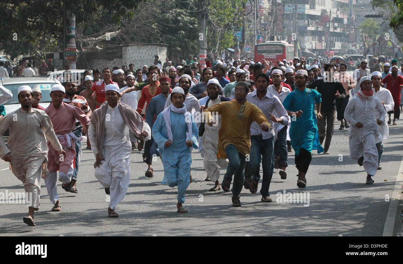 Dhaka, Bangladesh  22nd February 2013  A group of Islamic