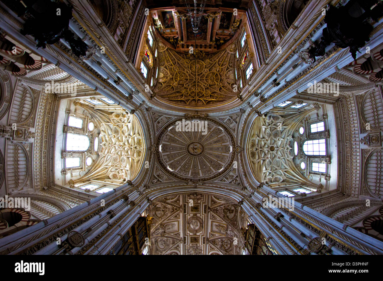 Interiors Church in Seville, Cathedral, Andalusia, Spain - Stock Image