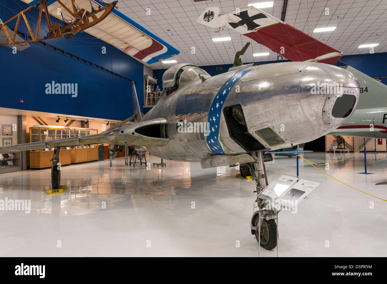 Republic RF-84K Thunderflash, Wings over the Rockies Air and Space Museum, Denver, Colorado. - Stock Image