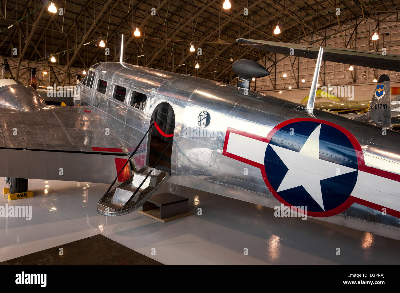 Beechcraft C-45 Expediter, Wings over the Rockies Air and Space Museum, Denver, Colorado. - Stock Image