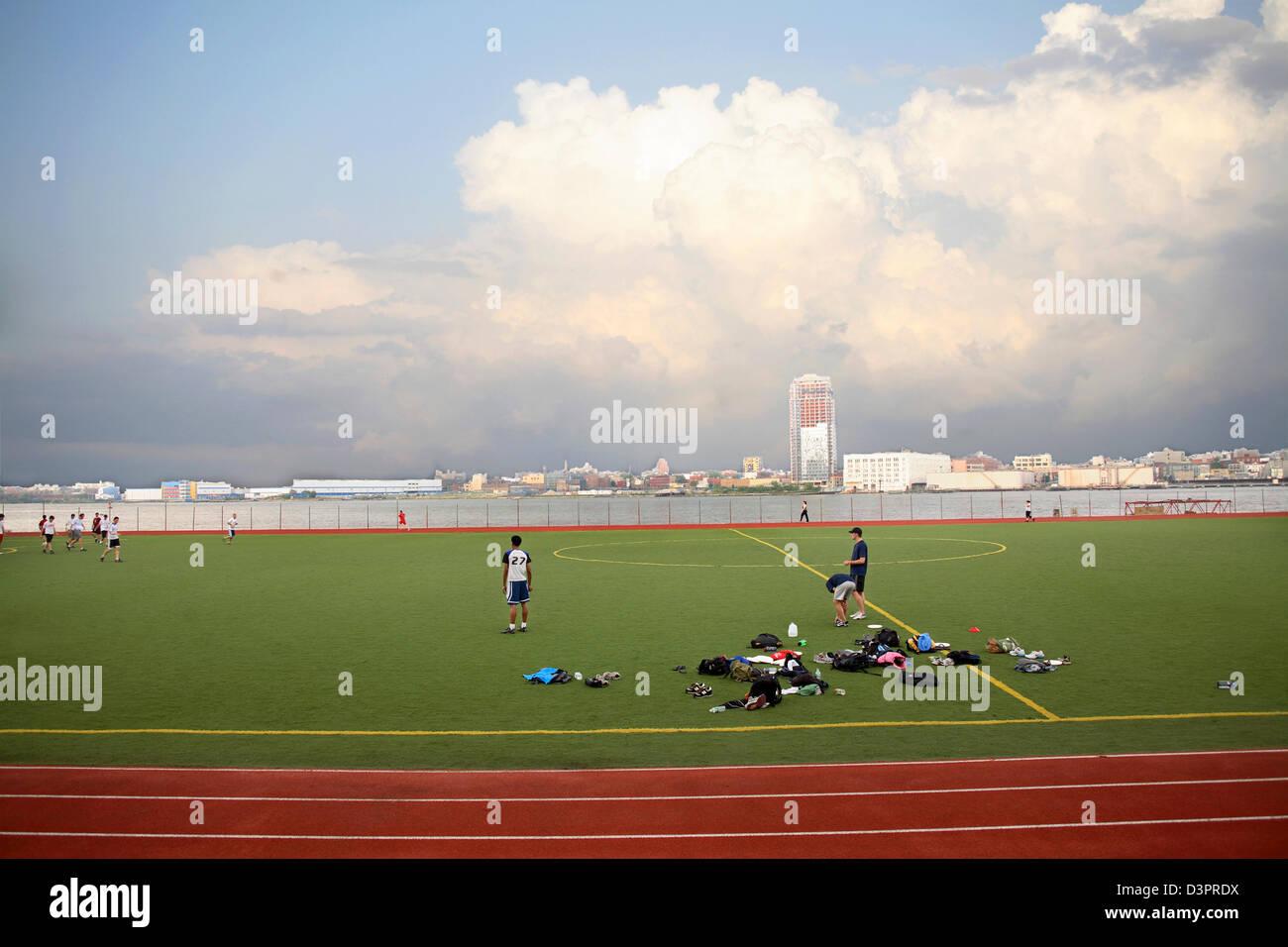 Soccer practice - Stock Image