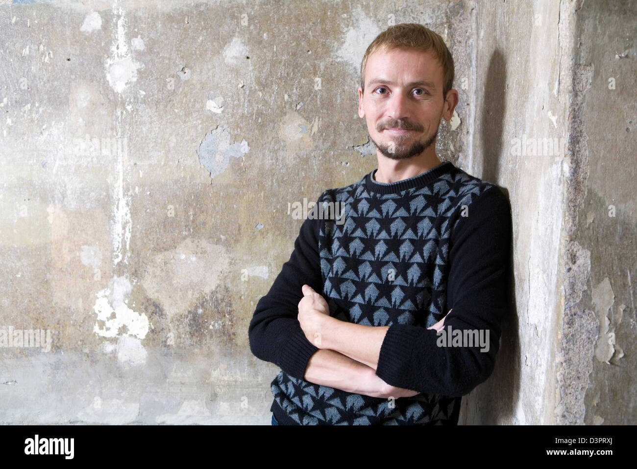 Berlin, Germany, Urs Küenzi Swiss gallerist and owner of the substitute, in Portrait - Stock Image