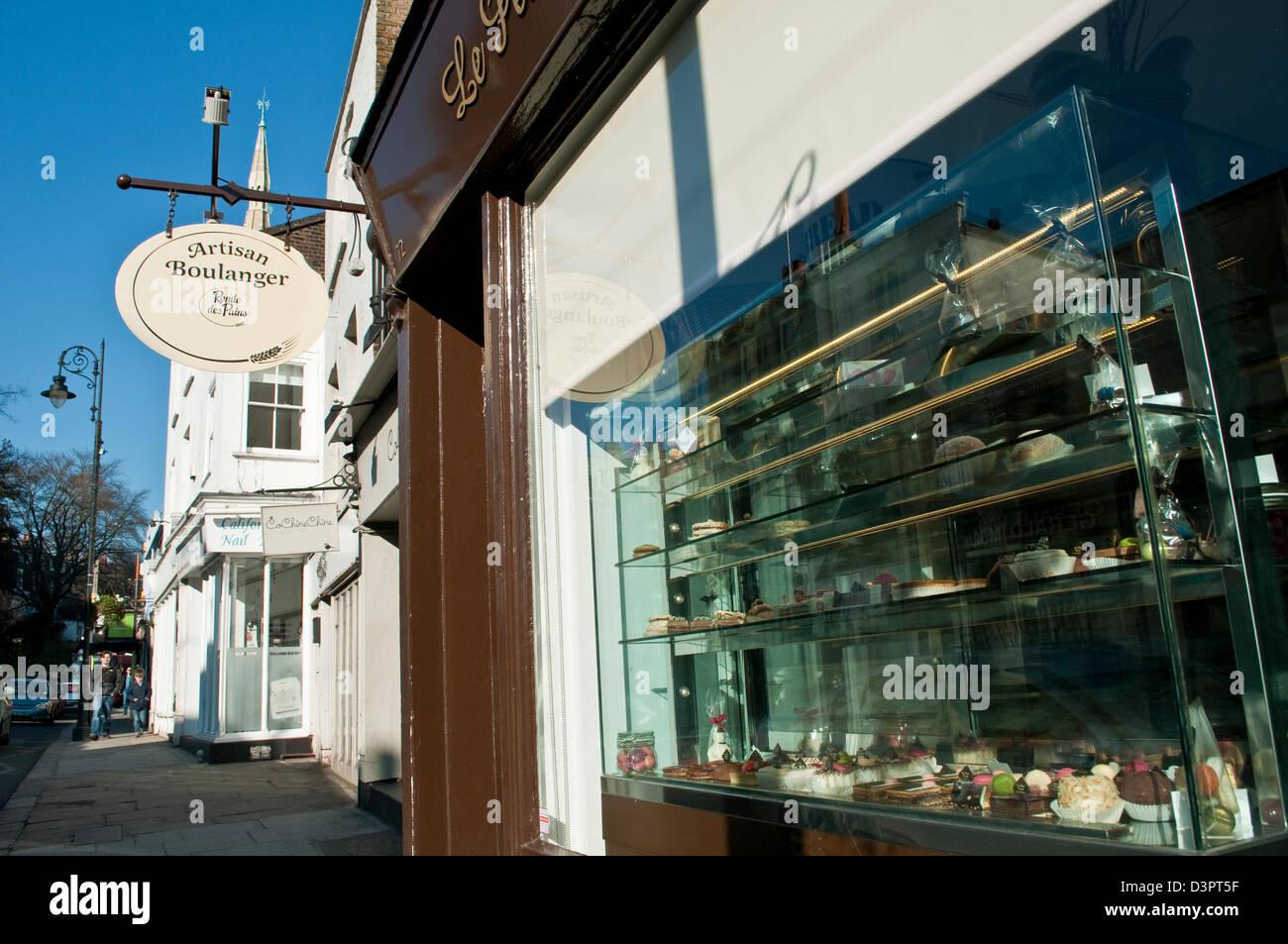 Artisan Boulanger, Heath Street, Hampstead, London, UK - Stock Image