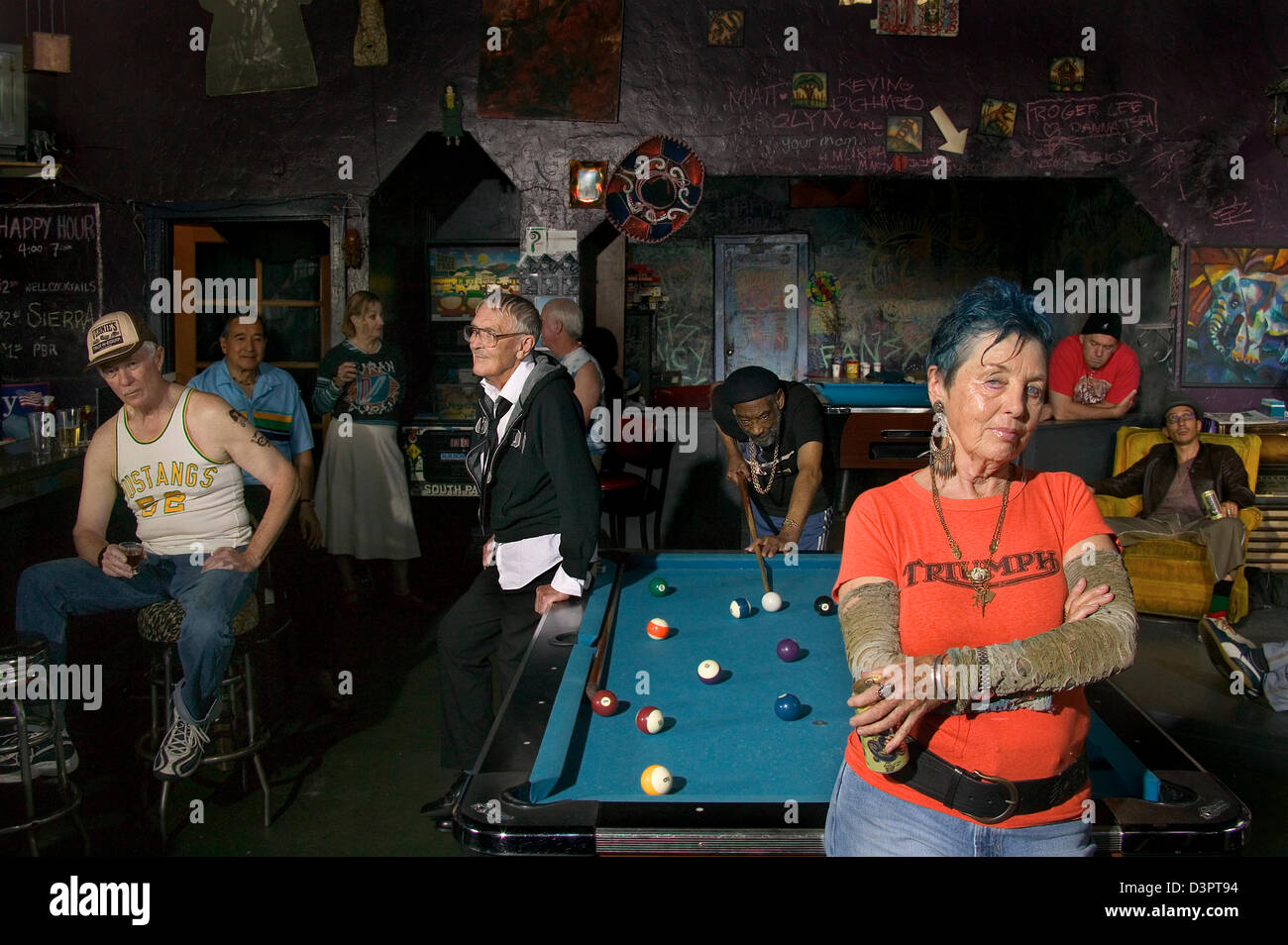 Old people in a bar - Stock Image