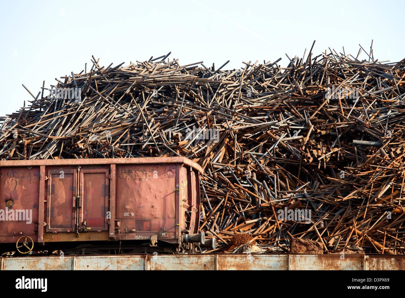 Duisburg, Germany, iron scrap in Duisburg - Stock Image
