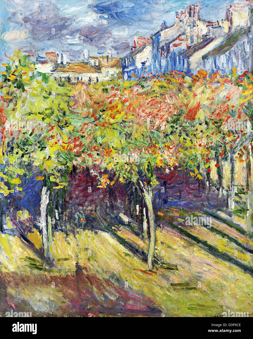 Claude Monet, The Lindens of Poissy, 1882 Oil on canvas. - Stock Image